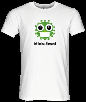 Männer Coronavirus Schutz T-Shirt Weiß