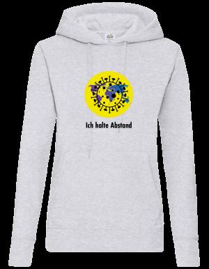Frauen Coronavirus Pullover / Sweatshirt Grau